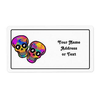 Dia De Los Muertos - Happy Couple Shipping Label