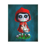 Dia de los Muertos Little Red Riding Hood Canvas Print