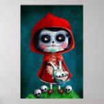 Dia de los Muertos Little Red Riding Hood Poster