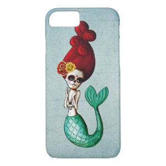 Dia de Los Muertos Old School Mermaid iPhone 8/7 Case