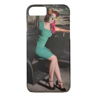 Dia de los Muertos Pin Up Girl Day of the Dead iPhone 8/7 Case