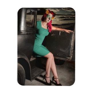 Dia de los Muertos Pin Up Girl Day of the Dead Magnet