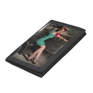 Dia de los Muertos Pin Up Girl Day of the Dead Tri-fold Wallet