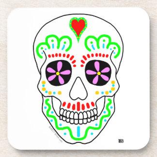 Dia de los Muertos Plastic Coaster 6-pak