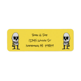 Dia de Los Muertos Skeleton Return Address Labels