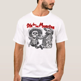 Dia de los Muertos, Skeletons with machete & booze T-Shirt