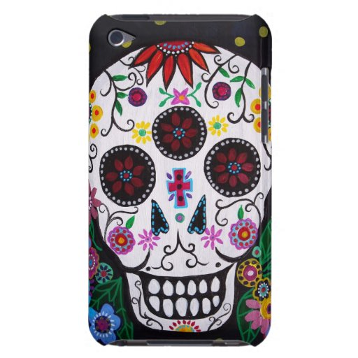 Dia de los Muertos skull iPod Case-Mate Case