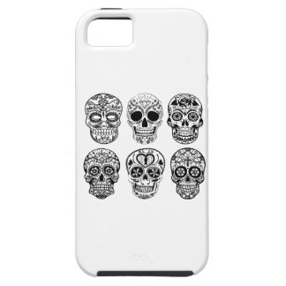 Dia de los Muertos Skulls (Day of the Dead) Tough iPhone 5 Case