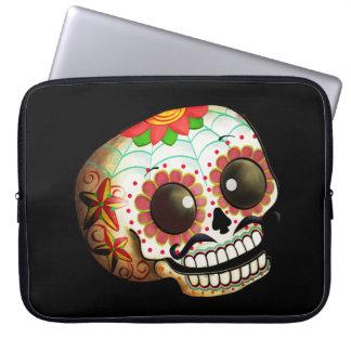 Dia de Los Muertos Sugar Skull Art Laptop Computer Sleeves