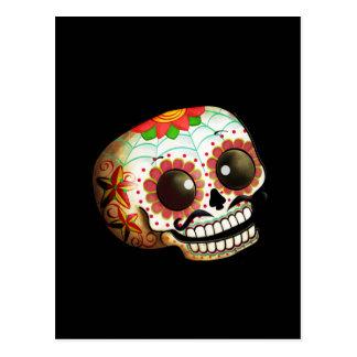 Dia de Los Muertos Sugar Skull Art Postcard