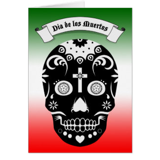dia de los muertos sugar skull card