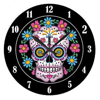 Dia de los Muertos Sugar Skull Clock
