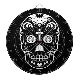 dia de los muertos sugar skull dartboard