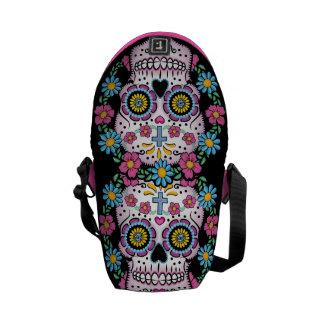 Dia de los Muertos Sugar Skull Messenger Bags