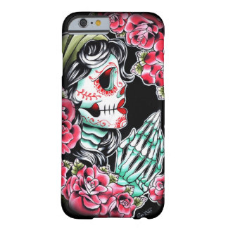 Dia De Los Muertos Sugar Skull Tattoo Flash Barely There iPhone 6 Case