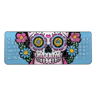 Dia de los Muertos Sugar Skull Wireless Keyboard