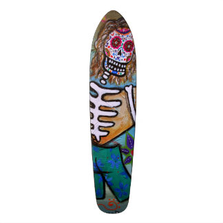 Dia de los Muertos Surfer 19.7 Cm Skateboard Deck