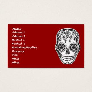 Dia de los Muertos That Girl Skull Business Card