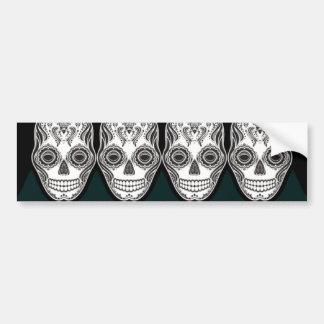 Dia de los Muertos That Girl Skull Diamond Pattern Bumper Sticker