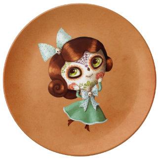 Dia de Los Muertos Vintage Doll Plate