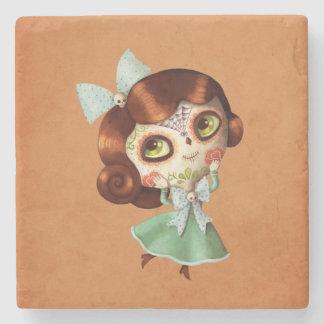 Dia de Los Muertos Vintage Doll Stone Coaster