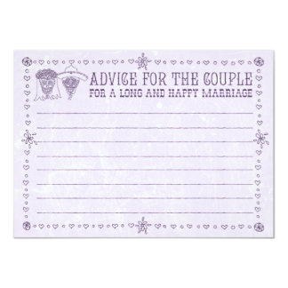 Dia de los Muertos Wedding Advice Cards