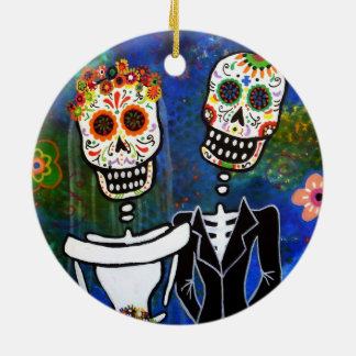 DIA DE LOS MUERTOS WEDDING CERAMIC ORNAMENT