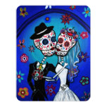 "DIA DE LOS MUERTOS WEDDING 4.25"" X 5.5"" INVITATION CARD"