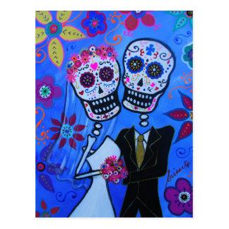 Dia de los Muertos Wedding Postcard