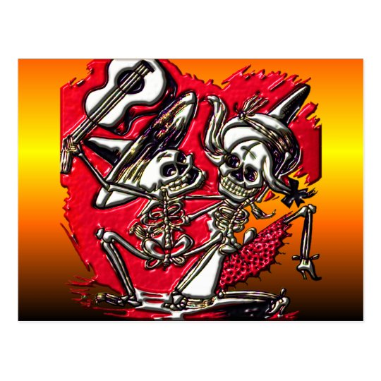 Dia de Los Muetos - Day of the Dead Postcard