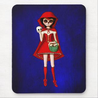 Dia De Muertos Red Riding Hood Mouse Pads