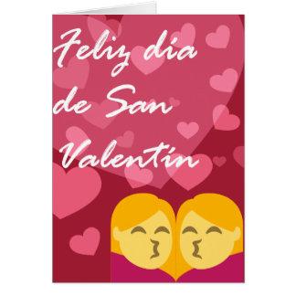 Día de San Valentín Mujer Mujer Besando Card