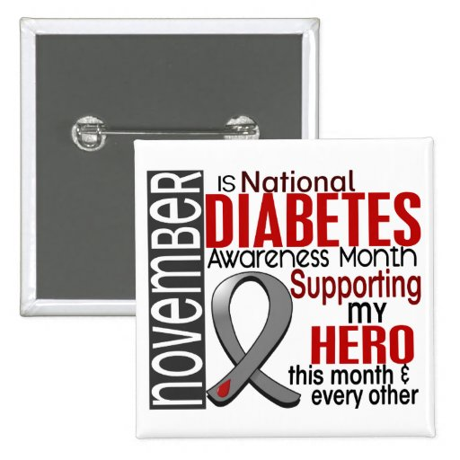 Diabetes Awareness Month Ribbon I2.1 Pins