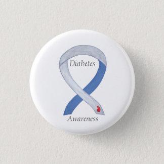 Diabetes Awareness Ribbon Customised Art Pin