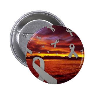 Diabetes Awareness Ribbons Float Through Sunset 6 Cm Round Badge