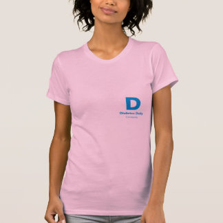 Diabetes Daily Light Color Ladies Tees