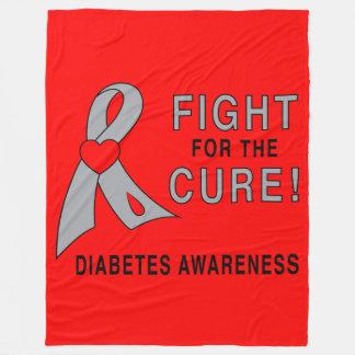 Diabetes: Fight for the Cure! Fleece Blanket