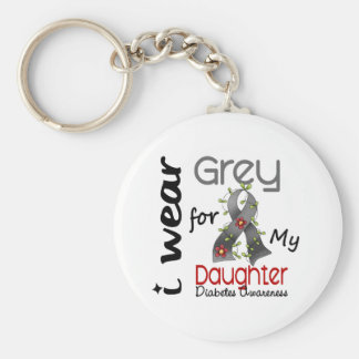 Diabetes I Wear Grey For My Daughter 43 Key Ring