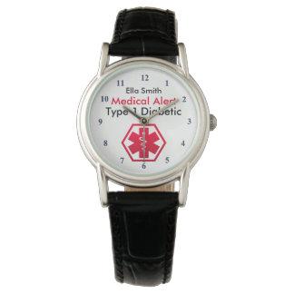 Diabetes Medical Alert Type 1 or 2 Watch