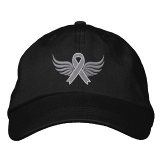 Diabetes Ribbon Wings Embroidered Hat