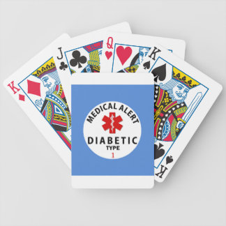 DIABETES TYPE 1 BICYCLE PLAYING CARDS