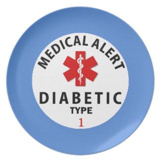 DIABETES TYPE 1 DINNER PLATE
