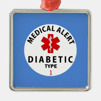 DIABETES TYPE 1 METAL ORNAMENT