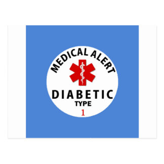 DIABETES TYPE 1 POSTCARD