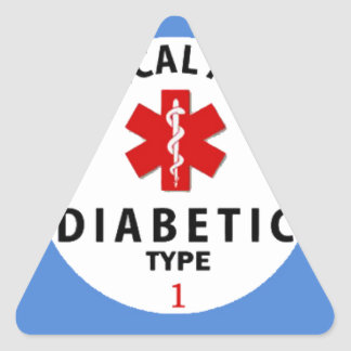 DIABETES TYPE 1 TRIANGLE STICKER
