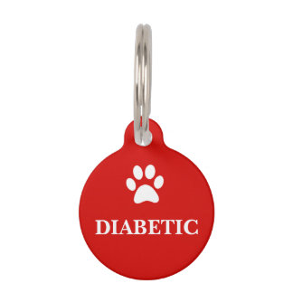 """DIABETIC"" Awareness Pet Tag"