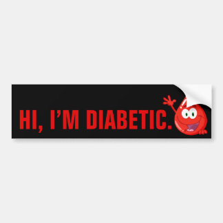 Diabetic Introduction Bumper Sticker