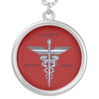 Diabetic Medical Alert Caduceus Necklace