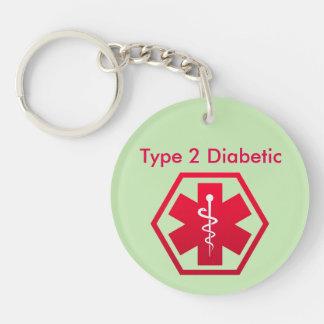 Diabetic Medical Alert Key Ring