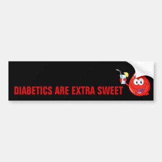 Diabetics are Extra Sweet Bumper Sticker